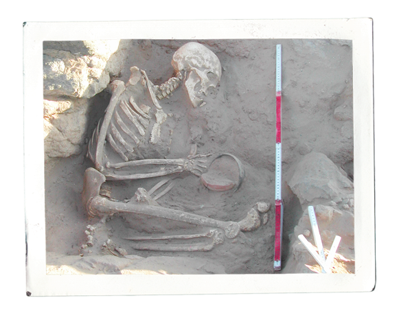 Napatan burial excavated near al-Karmal (photo: Claudia Näser)