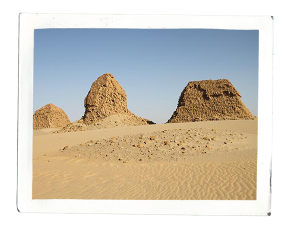 Royal pyramids at Nuri (photo: Cornelia Kleinitz)